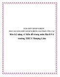 SKKN: Rèn luyện kỹ năng vẽ biểu đồ trong môn Địa lí 9 ở trường THCS Thượng Lâm