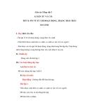 Giáo án bài LTVC: Ôn tập về từ chỉ hoạt động, trạng thái (Tuần 7) - Tiếng việt 3 - GV.N.Phương Mai