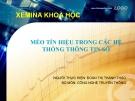 Bài báo cáo Méo tín hiệu trong hệ thống thông tin số