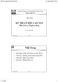 Bài giảng Kỹ thuật siêu cao tần: Phần 1 - TS. Lê Thế Vinh