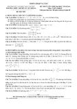 Đề thi thử tuyển sinh Đại học Toán khối D năm 2014 -  THPT chuyên Lý Tự Trọng (Kèm Đ.án)