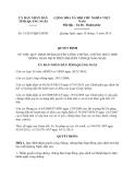 Quyết định 51/2013/QĐ-UBND