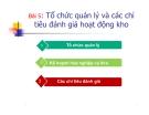 Bài giảng Kinh doanh kho và bao bì: Bài 5 - Ths. Nguyễn Thị Minh Nguyệt