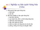 Bài giảng Kinh doanh kho và bao bì: Bài 3 - Ths. Nguyễn Thị Minh Nguyệt