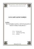 SKKN: Một số kinh nghiệm trong lĩnh vực phát triển ngôn ngữ cho trẻ độ tuổi 24 - 36 tháng ở trường mầm non