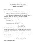 Đề thi thử Đại học, Cao đẳng Toán 2012 đề 41 (Kèm đáp án)
