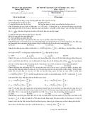 Đề thi thử ĐH môn Vật lí - THPT Tứ Kỳ lần 1 (2011-2012) đề 686