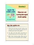 Bài giảng Quản trị chiến lược: Chương 3 - TS. Nguyễn Văn Sơn