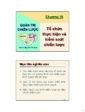 Bài giảng Quản trị chiến lược: Chương 10 - TS. Nguyễn Văn Sơn