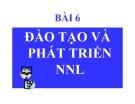 Bài giảng Quản trị nguồn nhân lực: Bài 6 (tt) - TS Phạm Phi Yên