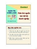 Bài giảng Quản trị chiến lược: Chương 4 - TS. Nguyễn Văn Sơn