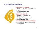 Bài giảng Kế toán quản trị - Chương 3 Dự toán ngân sách hoạt động