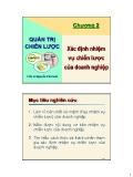 Bài giảng Quản trị chiến lược: Chương 2 - TS. Nguyễn Văn Sơn