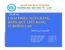 Tiểu luận: Chấp phiếu ngân hàng, REPO, QUỸ LIÊN BANG, EURODOLLAR