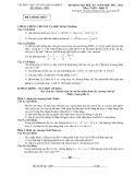 Tổng hợp đề thi học kì 1 môn Toán lớp 11 năm 2011-2012 - Trường THPT Nguyễn bính khiêm