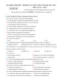 Đề kiểm tra KSCL Lý 8 - Sở GD&ĐT Vĩnh Phúc