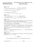 Đề kiểm tra KSCL Toán 10 - THPT Yên Lạc lần 2 (2013-2014) khối A,D