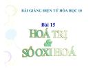 Bài giảng Hóa học 10 bài 15: Hóa trị và số oxi hóa
