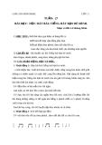 Bài 27: Học hát: Tiếng hát bạn bè mình - Giáo án Âm nhạc 3 - GV:Hồng Thủy