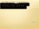 Bài giảng Ngôn ngữ lập trình trong SQL Servel - Phan Hiền