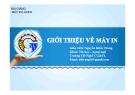 Bài giảng Máy in Laser - GV. Nguyễn Khắc Trung