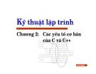Bài giảng Kỹ thuật lập trình: Chương II - Lưu Hồng Việt