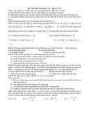 Đề thi thử Đại học môn Vật lí  tháng 2 - Kèm Đ.án