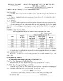 Đề KSCL ôn thi ĐH lần 2 Địa lí khối C (2013-2014) - GD&ĐT Vĩnh Phúc (Kèm Đ.án)