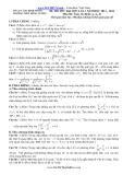 Đề thi thử ĐH lần 1 Toán 12 khối A, A1, B (2013-2014) - THPT Hùng Vương (Kèm Đ.án)