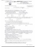 Đề thi tuyển sinh ĐH lần 1 Sinh khối B 2014 - THPT chuyên Lương Văn Chánh - Mã đề 357