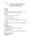 Giáo án Hóa học 10 bài 10: Ý nghĩa của bảng tuần hoàn các nguyên tố hóa học