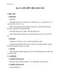 Giáo án Hóa học 10 bài 13: Liên kết cộng hóa trị