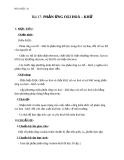 Giáo án Hóa học 10 bài 17: Phản ứng oxi hóa - khử