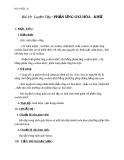 Giáo án bài Luyện tập phản ứng oxi hóa khử - Hóa 10 - GV.N.Thế Vinh