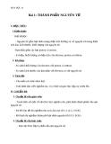 Giáo án Hóa học 10 bài 1: Thành phần nguyên tử