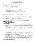 Đề thi thử Đại học, Cao đẳng Toán 2012 đề 73 (Kèm hướng dẫn giải)