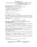 Đề thi thử Đại học Toán lần 1 (2013 - 2014) khối A,A1,B,D - THPT Hậu Lộc 2 (Kèm đáp án)