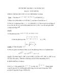 Đề thi thử Đại học, Cao đẳng Toán 2012 đề 65 (Kèm hướng dẫn giải)