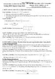 Đề thi thử ĐH môn Toán lần 1 năm 2014 khối A,B,A1 - THPT Nguyễn Trung Thiên (Kèm đáp án)