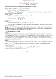 Đề thi thử Đại học, Cao đẳng Toán 2012 đề 74 (Kèm hướng dẫn giải)