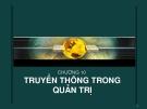 Bài giảng Quản trị học: Chương 10 - CĐ CNTT Hữu nghị Việt Hàn