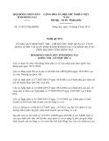 Nghị quyết 91/2013/NQ-HĐND