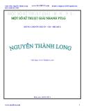 Kỹ thuật giải nhanh phương trình lượng giác - Dùng cho ôn thi TN-ĐH-CĐ 2011