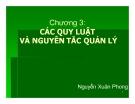Bài giảng Khoa học quản lý: Chương 3 - Nguyễn Xuân Phong