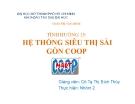Tiểu luận: Hệ thống siêu thị Sài Gòn COOP