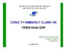 Tiểu luận: Công ty KIMBERLY CLARK Việt Nam triển khai ERP