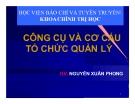 Bài giảng Khoa học quản lý: Chương 8 - Nguyễn Xuân Phong