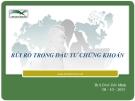 Bài giảng Rủi ro trong đầu tư chứng khoán - ThS. Đinh Tiến Minh