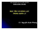 Bài giảng Khoa học quản lý: Chương 5 - Nguyễn Xuân Phong