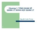 Bài giảng Khoa học quản lý: Chương 1 - Nguyễn Xuân Phong